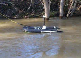 Support flottant à remorquer pour profileurs RiverSurveyor