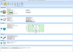 Logiciel de programmation et exploitation hydrométrique avec choix de la définition de la section de conduite, tuyauterie ou canalisation