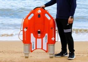 Drone bouée motorisée - Planche de secours et de sauvetage aux naufragés