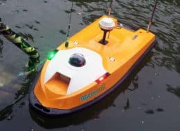 Drone marin ASV télé-opéré pour surveillance hydrographique