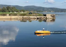 Drone marin télé-opéré pour études hydrographiques