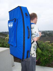 Sacoche à bandoulières sur le dos d'un utilisteur